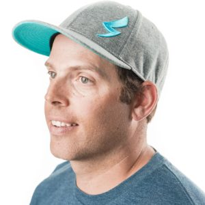 Speed-Mechanics-Apparel-Grey-Heather-Teal-Baseball-Cap