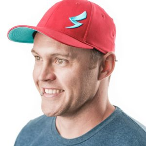Speed-Mechanics-Apparel-Red-Teal-Baseball-Cap