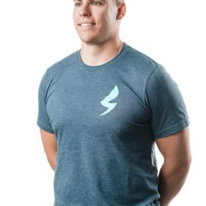 Speed-Mechanics-Apparel-Steel-Blue-Heather-Mens-T-shirt
