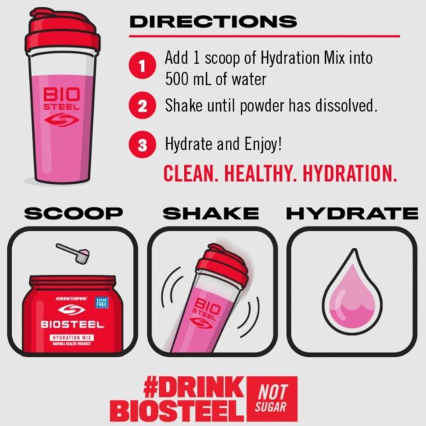 Directions for Biosteel Hydration Mix 45 Servings