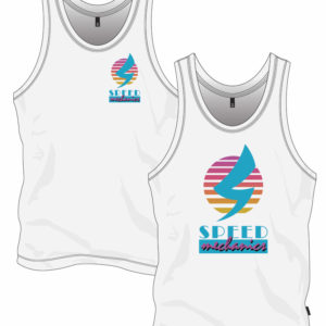 California style retro theme speed mechanics tank top