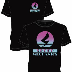 Miami style retro theme speed mechanics t-shirt