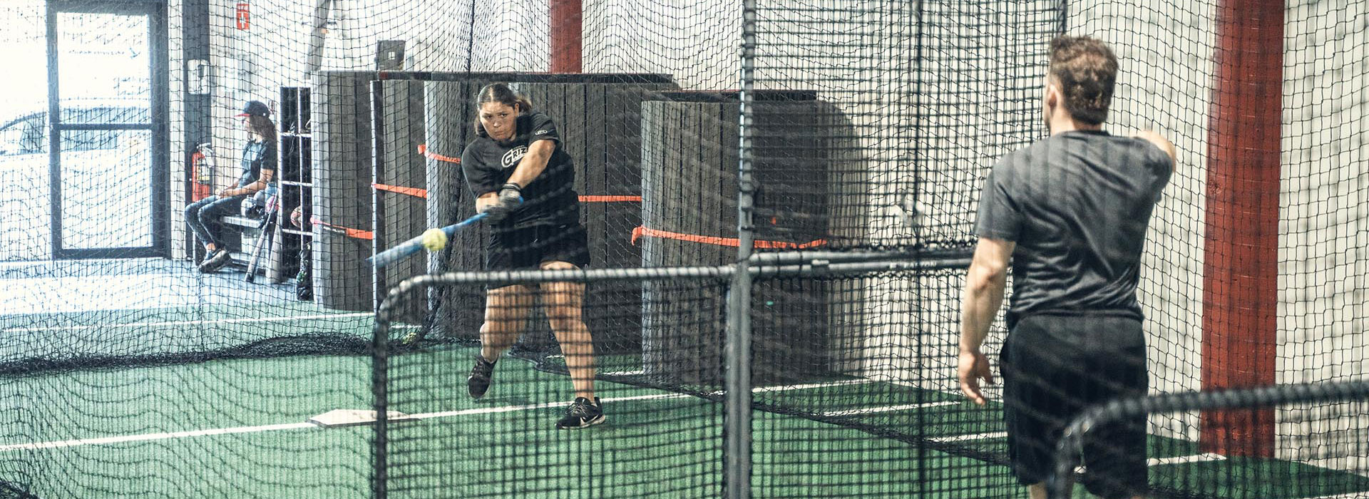 Speed Mechanics Facility Enclosed Netted Area for Baseball Batting cage
